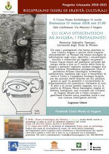 Gli scavi Ottocenteschi ad Angera: i protagonisti – Domenica 17 Marzo 2019 ore 17.30
