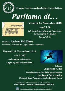 Conferenze Novembre 2018 – G.S.A.C Castelletto Sopra Ticino