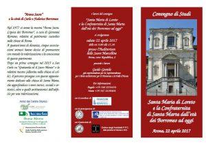 22 Aprile Convegno di studi Arona – Santa Maria di Loreto e la Confraternita di Santa Marta dall'età dei Borromeo ad oggi