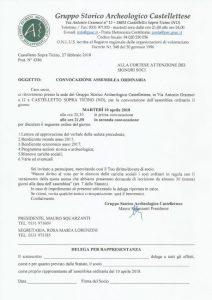 Convocazione Assemblea Ordinaria Soci – 10 Aprile 2018 ore 20.30