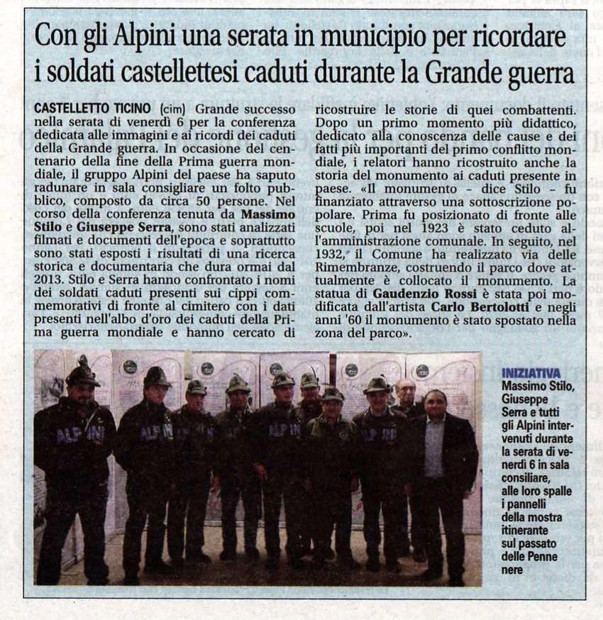 Giornale di Arona 13-11-2015