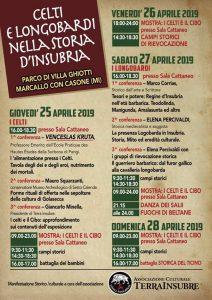 Celti e Longobardi nella storia d'Insubria – eventi dal 25 al 28 Aprile 2019