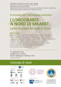 I longobardi a nord di Milano – Giornata di studi – 21 Settembre 2019