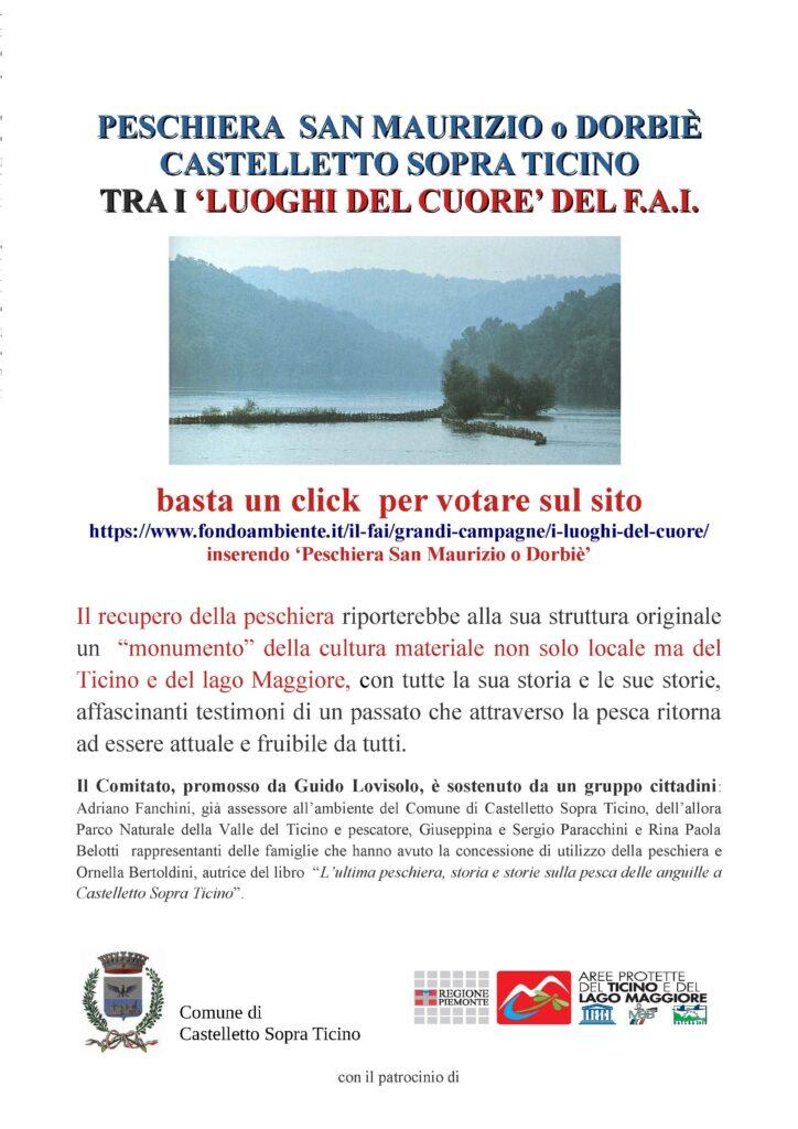 PESCHIERA SAN MAURIZIO o DORBIÈ – CASTELLETTO SOPRA TICINO – TRA I 'LUOGHI DEL CUORE' DEL F.A.I.