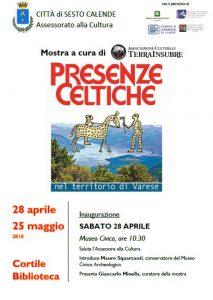 Mostra: Presenze Celtiche nel Territorio di Varese 28 Aprile-25 Maggio 2018