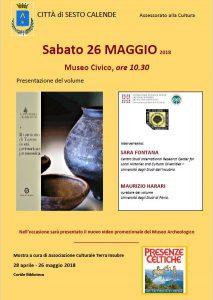 26 Maggio 2018 – presentazione volume: Il territorio di Varese in età preistorica e protostorica
