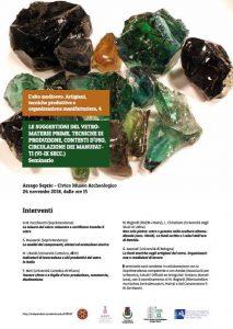 24 Novembre seminario Arsago Seprio – L'alto medioevo. Artigiani, tecniche produttive e organizzazione manifatturiera.