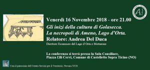 Conferenza G.S.A.C – Venerdì 16 Novembre 2018 – ore 21.00