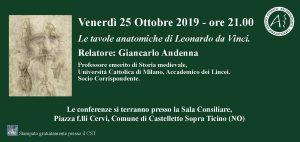 Conferenza – Venerdì 25 Ottobre 2019 – ore 21.00