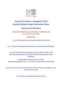 Festa di Fra Dolcino e Margherita 2019 – Domenica 8 settembre