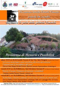 Ciclo di incontri: Riapriamo le porte delle fattorie Visconti  19/10 – 25/10 – 08/11