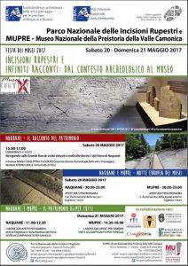 20-21 Maggio Incisioni rupestri e infiniti racconti: dal contesto archeologico al Museo