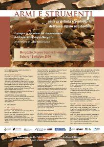 Convegno: Armi e Strumenti nella preistoria e protostoria dell'arco alpino occidentale – Sabato 19 ottobre 2019