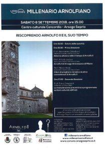 Millenario Arnolfiano – Riscoprendo Arnolfo II e il suo tempo 8 Settembre ore 15.00