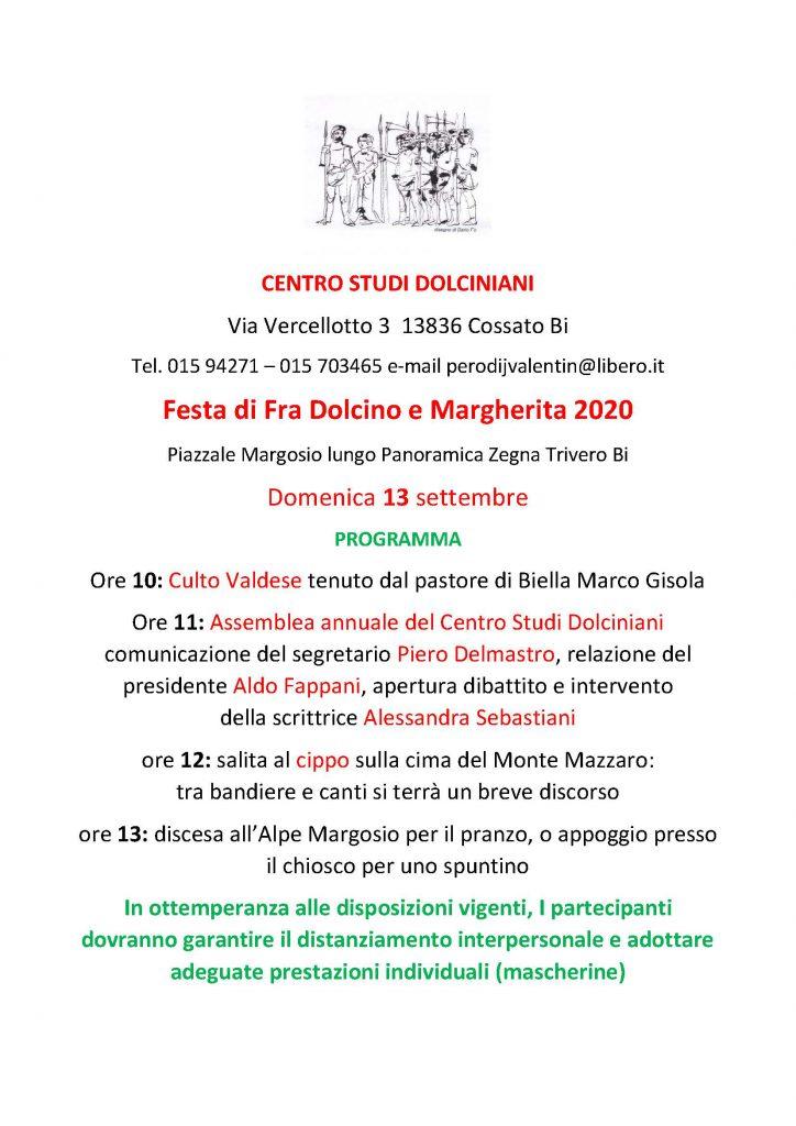 Festa di Fra Dolcino e Margherita – Domenica 13 Settembre 2020